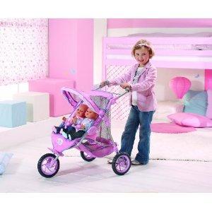 jouet 39 poussette poup e jumeaux baby born 39 sur. Black Bedroom Furniture Sets. Home Design Ideas